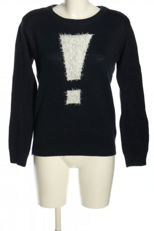 Colors of the world Knitted Sweater black-natural white casual look
