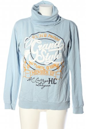 Colors of the world Sweat Shirt printed lettering casual look