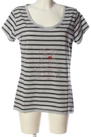Colors of the world T-shirt nero-grigio chiaro motivo grafico stile casual