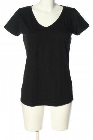 Colors of the world V-hals shirt zwart casual uitstraling