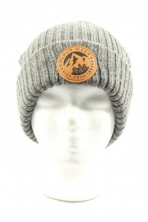Colour wear Beanie light grey casual look