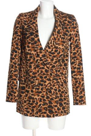Colourful Rebel Long Blazer leopard pattern casual look