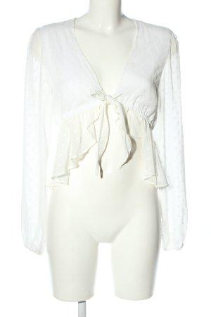 Colourful Rebel Long Sleeve Blouse white elegant