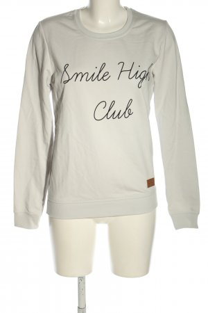 Colourful Rebel Sweat Shirt light grey-black printed lettering casual look