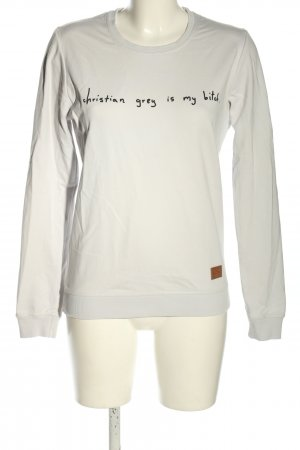 Colourful Rebel Sweat Shirt natural white-black printed lettering casual look