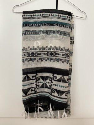 H&M Bufanda de flecos multicolor