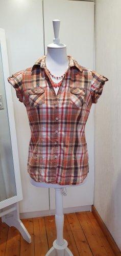 Colours of the World Geruite blouse veelkleurig Katoen