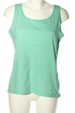 Colours of the World Basic Top grün-weiß Streifenmuster Casual-Look