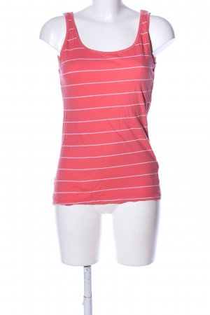 Colours of the World Basic Top pink-weiß Streifenmuster Casual-Look