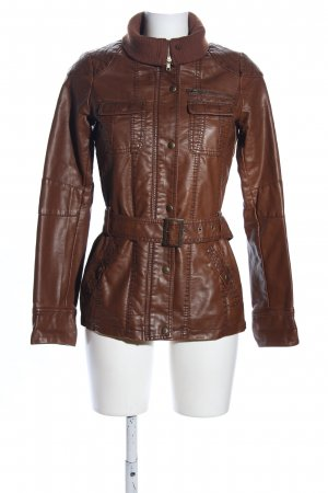 Colours of the World Biker Jacket brown casual look