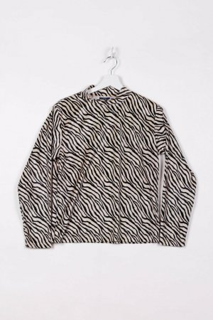 Colours of the World Long Sleeve Blouse black-beige