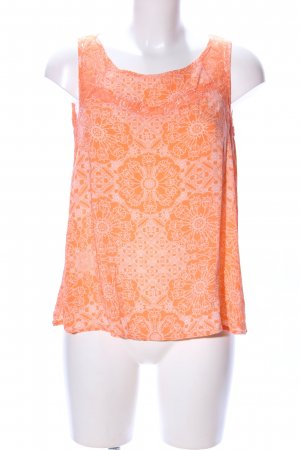 Colours of the World Blusentop hellorange-wollweiß Allover-Druck Casual-Look