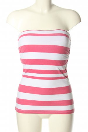 Colours of the World Bustier Top pink-white striped pattern casual look