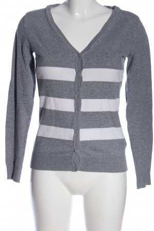 Colours of the World Cardigan light grey-white allover print casual look
