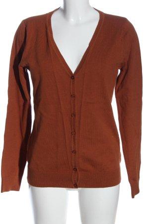 Colours of the World Cardigan brun moucheté style décontracté