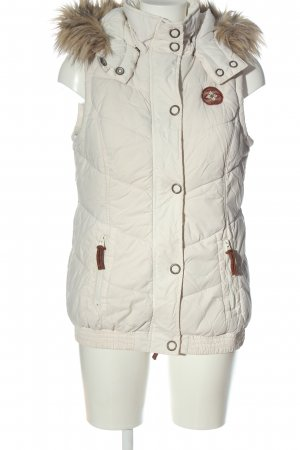 Colours of the World Down Vest white themed print casual look