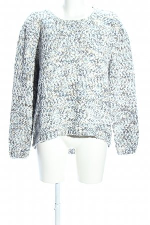 Colours of the World Grobstrickpullover weiß-hellgrau meliert Casual-Look