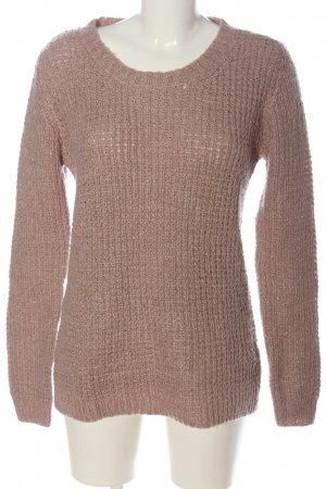 Colours of the World Grobstrickpullover nude-schwarz meliert Casual-Look