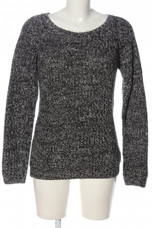 Colours of the World Grobstrickpullover schwarz-weiß meliert Casual-Look