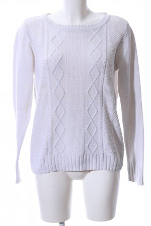 Colours of the World Grobstrickpullover weiß Casual-Look