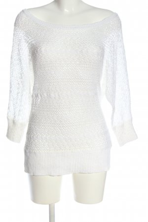 Colours of the World Crochet Sweater white casual look