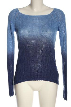Colours of the World Häkelpullover blau Farbverlauf Casual-Look