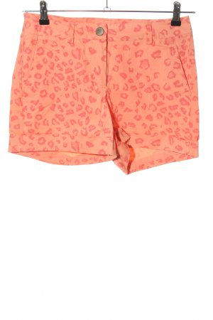 Colours of the World Hot Pants hellorange-pink abstraktes Muster Casual-Look