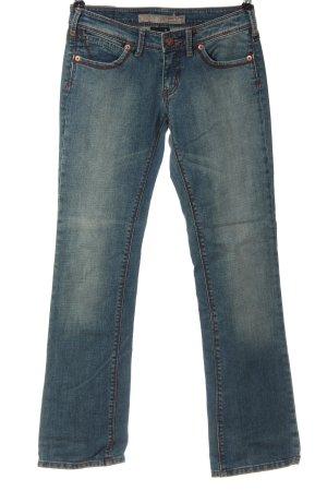 Colours of the World Jeans taille basse bleu style décontracté