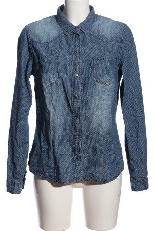 Colours of the World Jeansowa koszula niebieski-biały W stylu casual