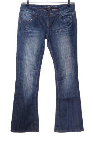 Colours of the World Jeans flare bleu style décontracté