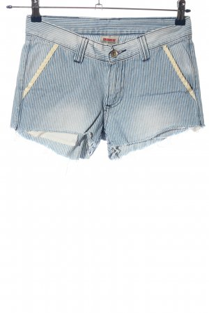Colours of the World Jeansshorts blau-weiß Allover-Druck Casual-Look