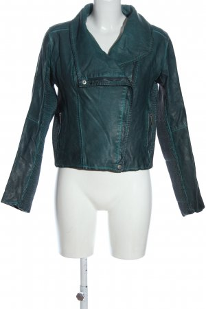 Colours of the World Faux Leather Jacket green casual look