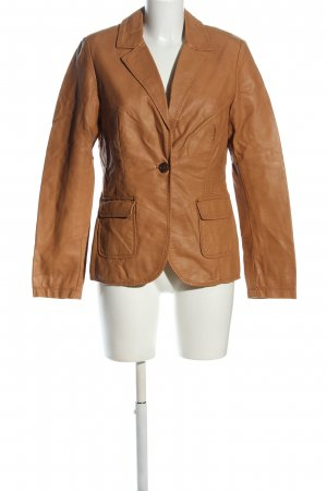 Colours of the World Faux Leather Jacket brown casual look