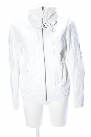 Colours of the World Chaqueta de cuero de imitación blanco look casual