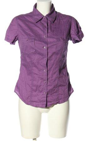 Colours of the World Chemise à manches courtes violet style d'affaires