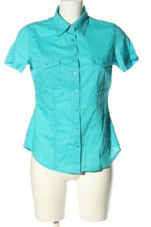 Colours of the World Chemise à manches courtes turquoise style décontracté