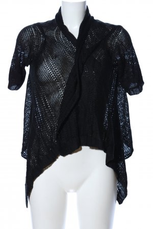 Colours of the World Short Sleeve Knitted Jacket black casual look