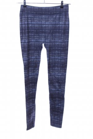 Colours of the World Leggings blau-weiß abstraktes Muster Casual-Look
