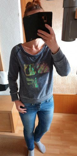 Colours of the World Leichtes Sweatshirt mit Aufdruck Grau meliert S