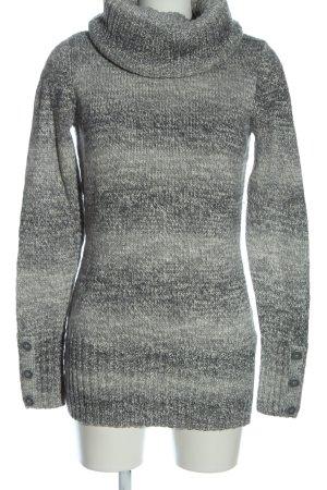 Colours of the World Długi sweter jasnoszary-czarny W stylu casual