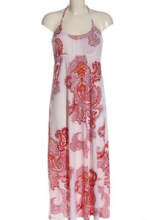Colours of the World Robe longue rose-rouge motif abstrait style décontracté