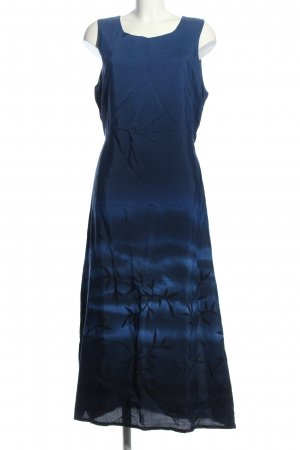 Colours of the World Maxikleid blau-schwarz Allover-Druck Elegant