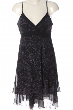 Colours of the World Mini Dress black-lilac allover print casual look