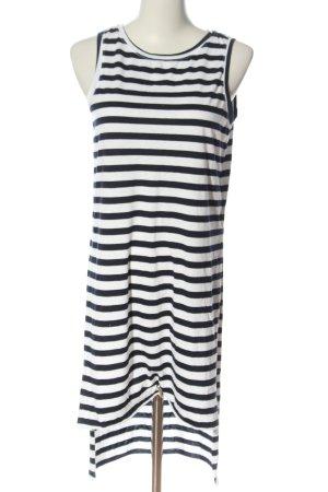 Colours of the World Robe courte noir-blanc motif rayé style décontracté