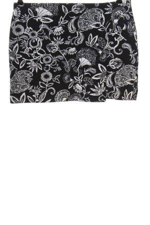 Colours of the World Spódnica mini czarny-biały Na całej powierzchni