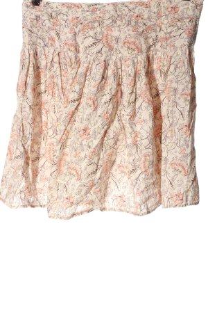 Colours of the World Mini-jupe crème-rose imprimé allover style décontracté