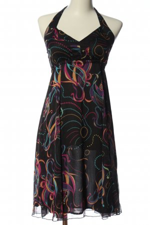 Colours of the World Halter Dress abstract pattern elegant