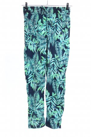 Colours of the World Pantalon large motif de fleur style décontracté