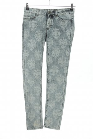 Colours of the World Röhrenjeans hellgrau Allover-Druck Casual-Look