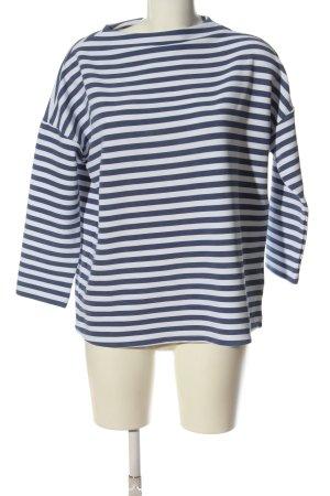 Colours of the World Cienki sweter z dzianiny niebieski-biały Wzór w paski